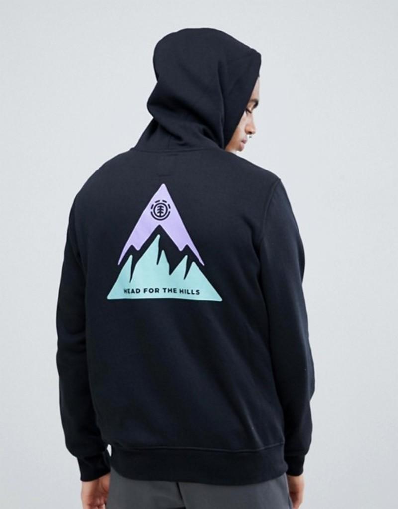 エレメント メンズ パーカー・スウェット アウター Element Delta Hoodie With Back Print In Black Black