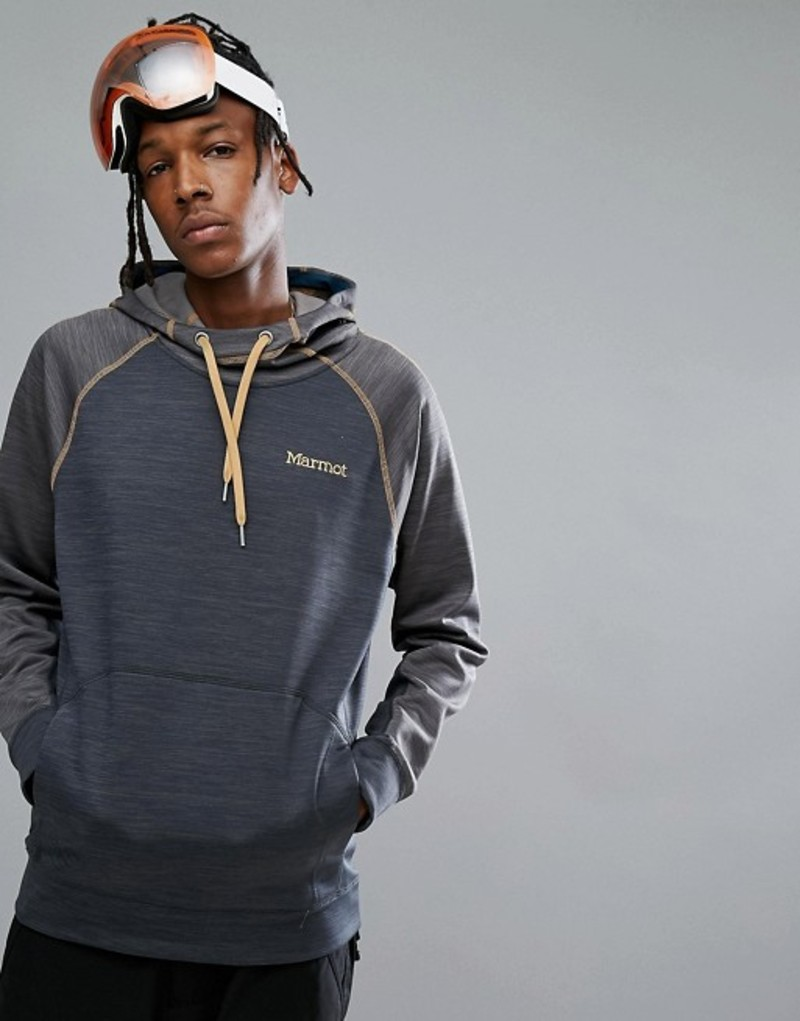 マーモット メンズ パーカー・スウェット アウター Marmot Cottonwood Performance Hoodie Raglan in Blue/Gray Denim/slate grey