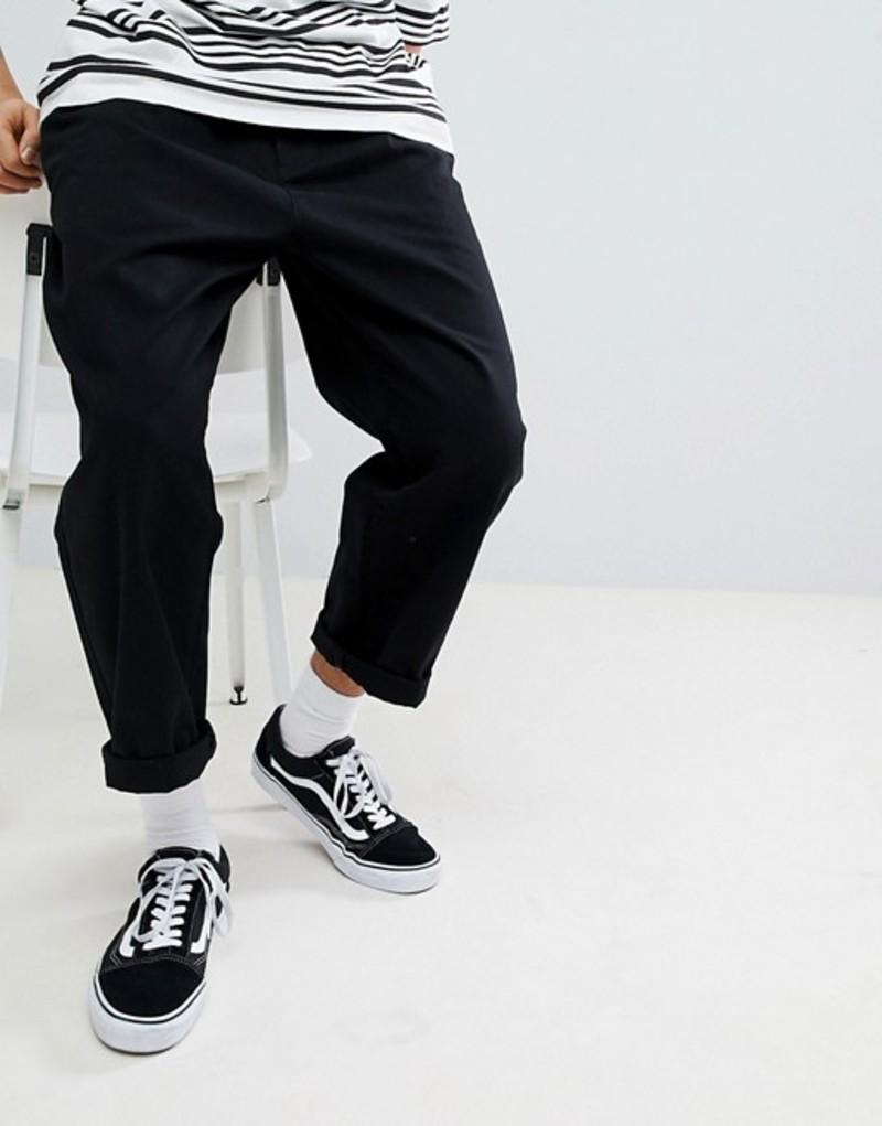 オベイ メンズ カジュアルパンツ ボトムス Obey Fubar Pants In Loose Fit Black