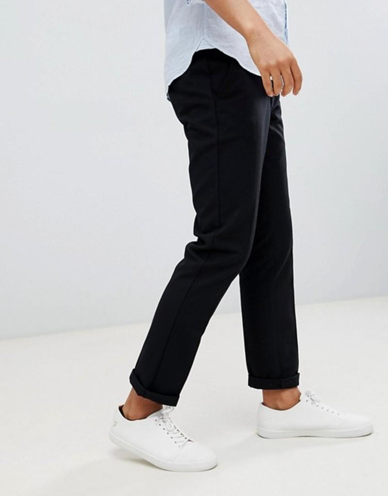 ファーラー メンズ カジュアルパンツ ボトムス Farah Elm hopsack pants in black Black