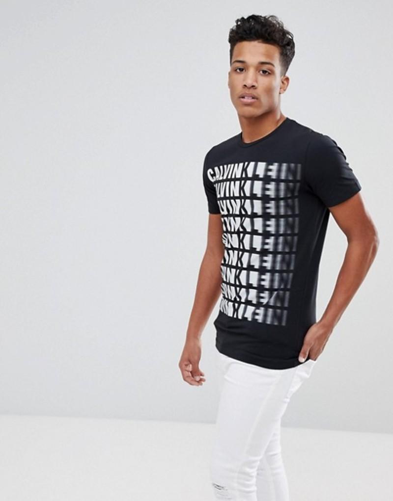 カルバンクライン メンズ Tシャツ トップス Calvin Klein Tispeed Slim Fit T-Shirt Black