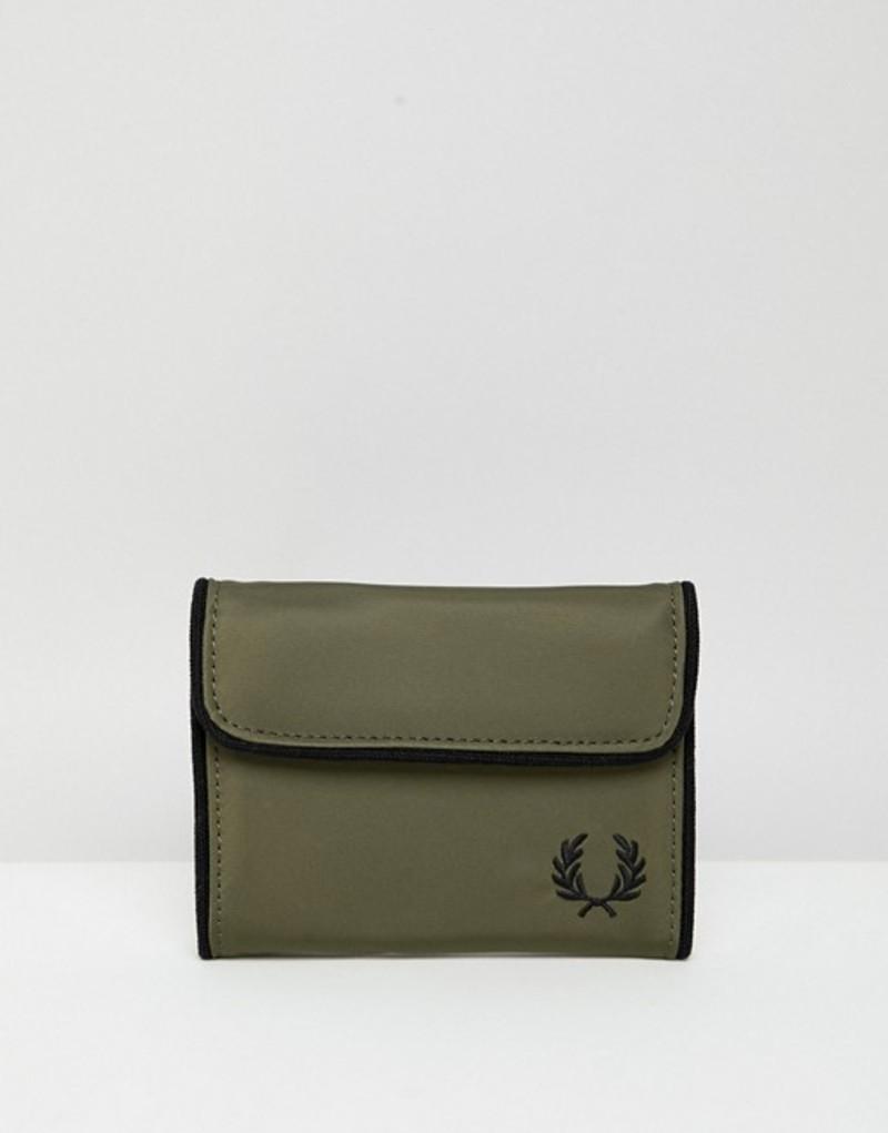 フレッドペリー メンズ 財布 アクセサリー Fred Perry sport nylon wallet in green Green