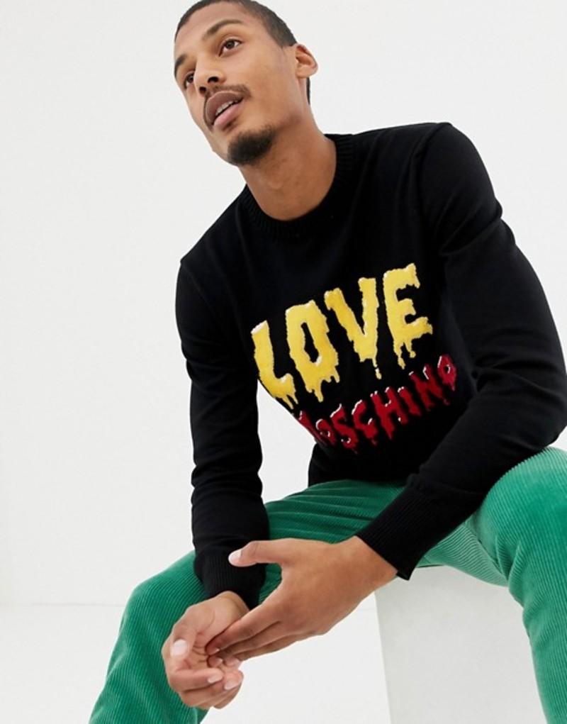 ラブ モスキーノ メンズ ニット・セーター アウター Love Moschino melting sweater Black