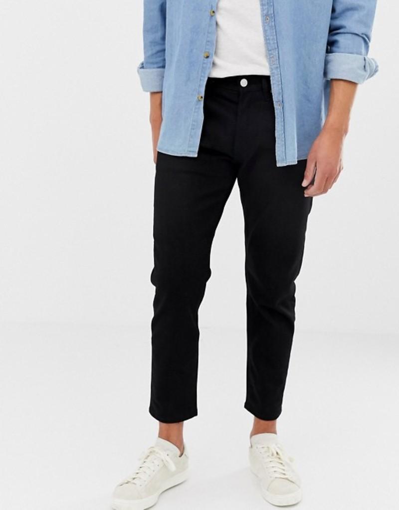 ジャック アンド ジョーンズ メンズ デニムパンツ ボトムス Jack & Jones Jeans In Tapered Fit Black Denim Black denim