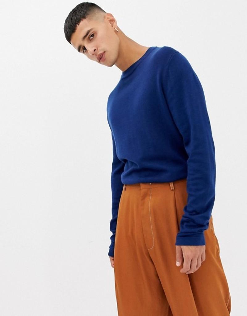ノーク メンズ ニット・セーター アウター Noak regular fit sweater in navy Navy