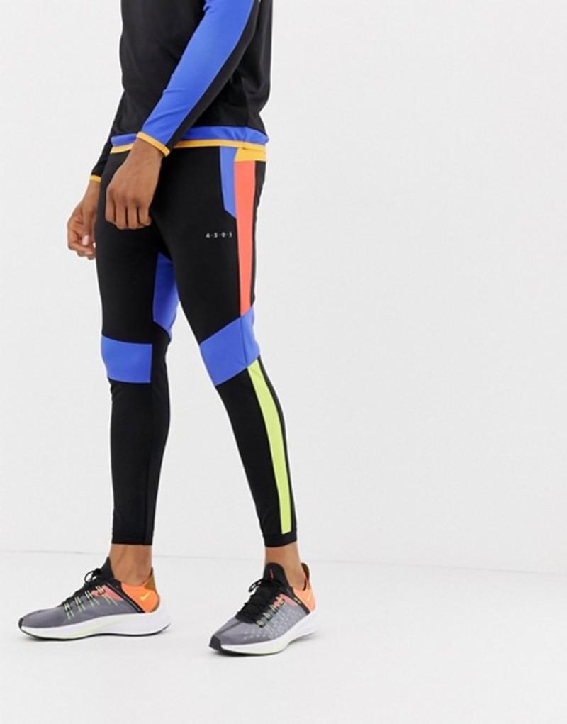 エイソス メンズ カジュアルパンツ ボトムス ASOS 4505 super skinny training joggers with color block cut & sew Multi