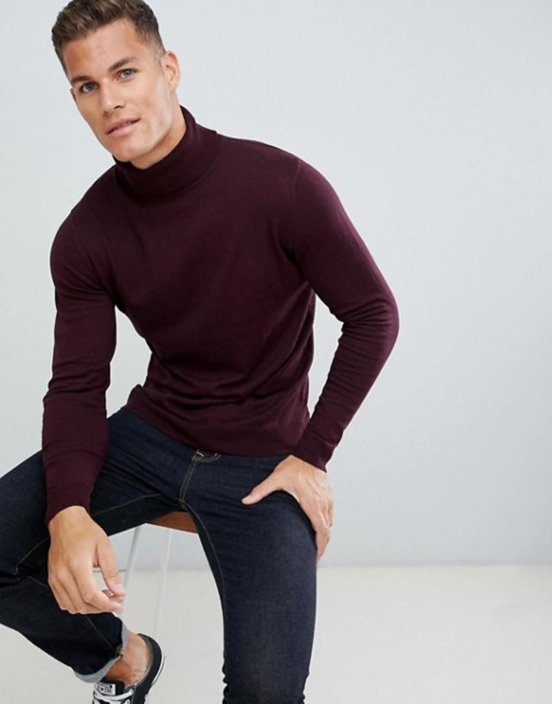 ジャック アンド ジョーンズ メンズ ニット・セーター アウター Jack & Jones Premium roll neck knit Winetasting