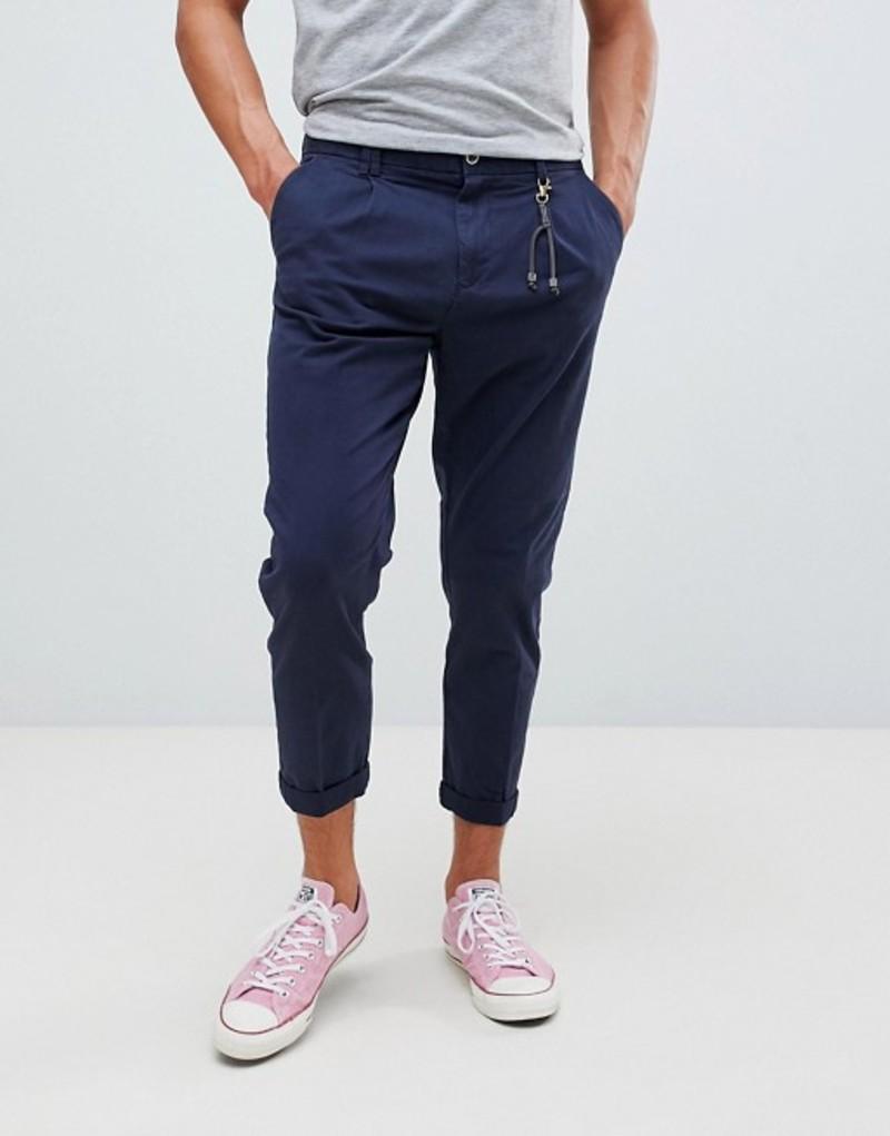 ジャック アンド ジョーンズ メンズ カジュアルパンツ ボトムス Jack & Jones Tapered PANTS With Cropped Leg Navy blazer