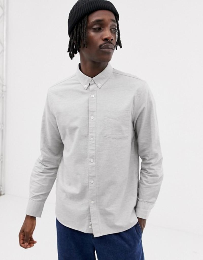 ペンフィールド メンズ シャツ トップス Penfield Hingham neppy buttondown regular fit shirt in gray marl Grey