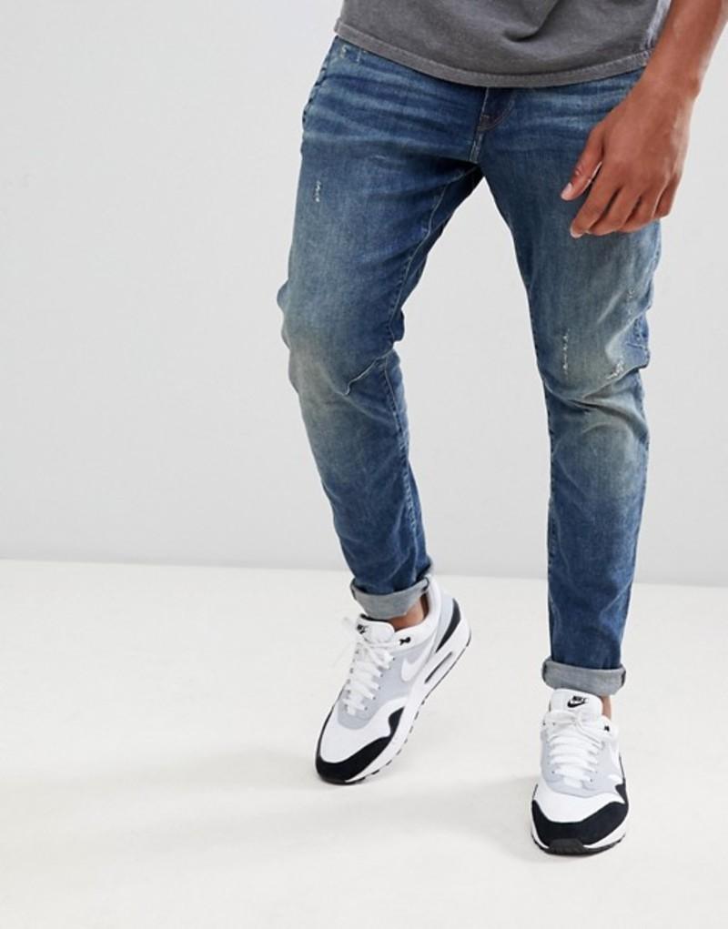 ジースター メンズ デニムパンツ ボトムス G-Star D-Staq 3d distressed skinny jeans medium aged Medium aged antic de