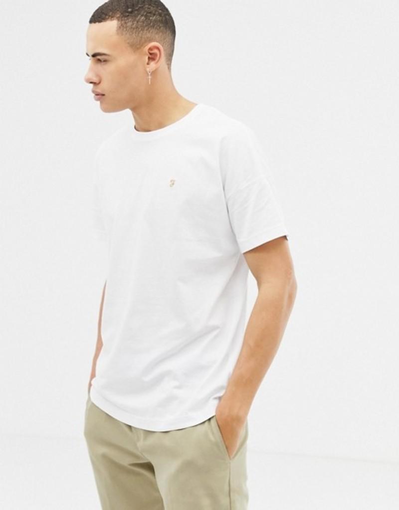 ファーラー メンズ Tシャツ トップス Farah Frankie oversized t-shirt in white White