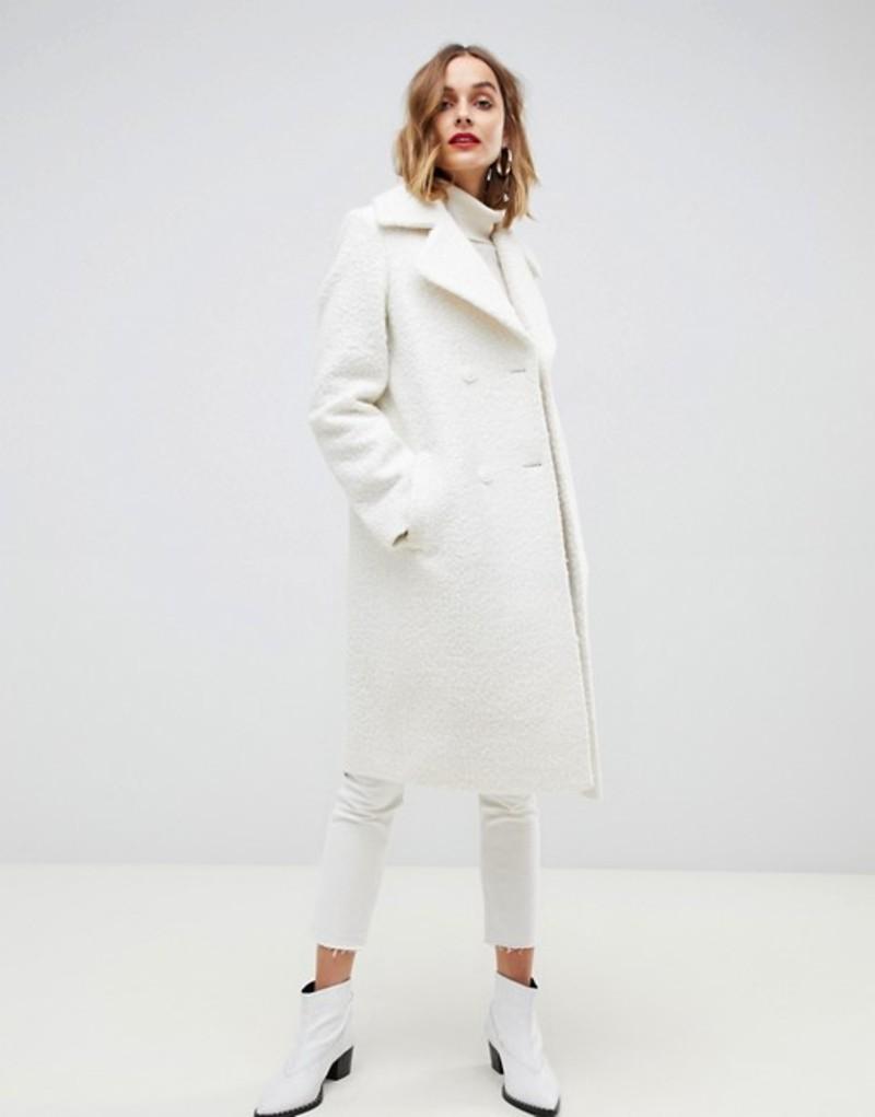 ジャンニ フェロー レディース コート アウター Gianni Feraud teddy oversized coat Cream