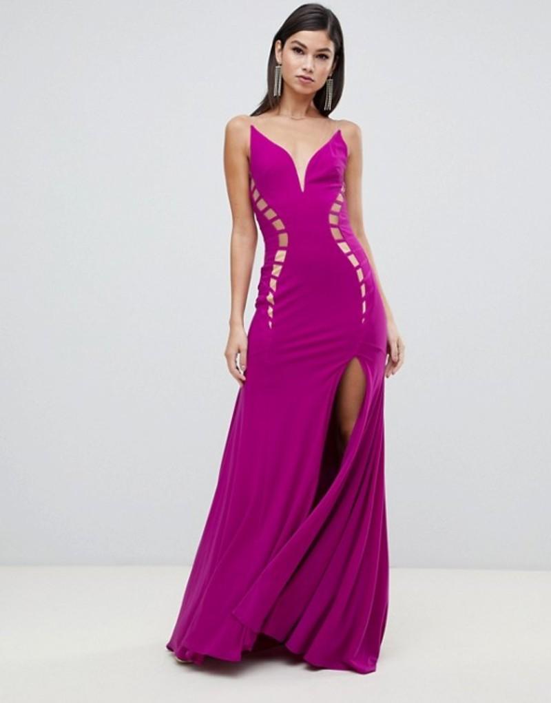 フォーエバーユニーク レディース ワンピース トップス Forever Unique ladder insert maxi dress Purple