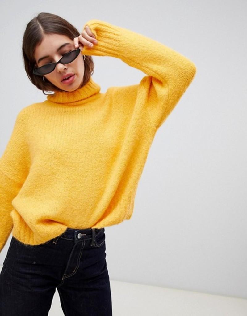 ウィークデイ レディース ニット・セーター アウター Weekday Roll Neck Sweater in Yellow Yellow