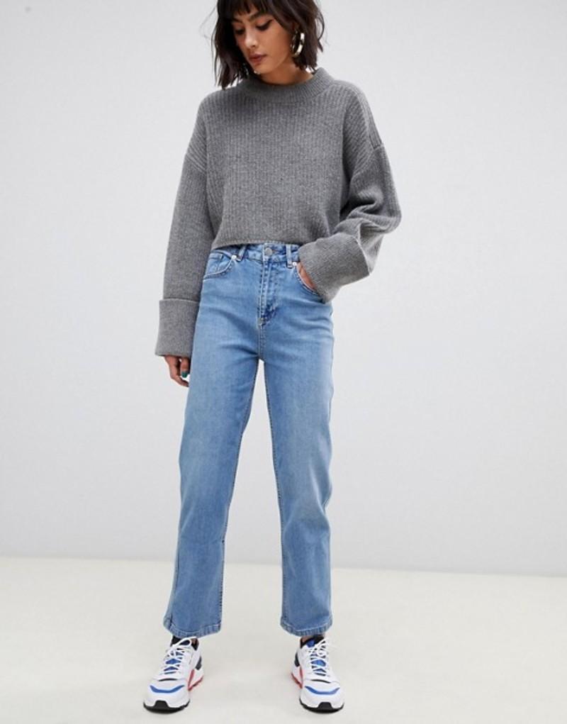 エイソス レディース デニムパンツ ボトムス ASOS DESIGN Farleigh high waist straight leg jeans in stone wash blue Light stone