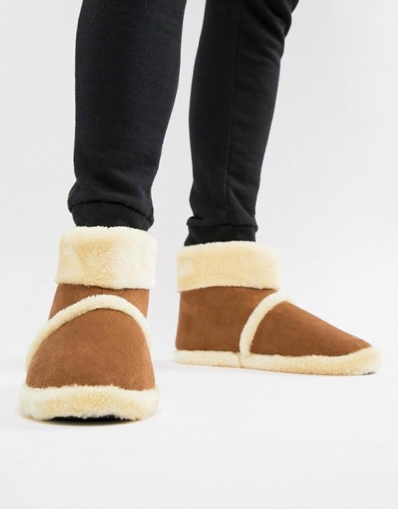 ダンロップ メンズ サンダル シューズ Dunlop Sheepskin Boot Slipper Tan
