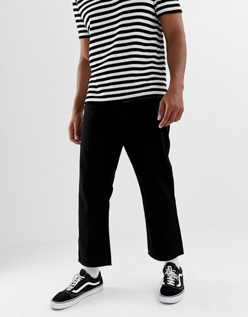 チープマンデー メンズ デニムパンツ ボトムス Cheap Monday Straight Fit Jeans In Black Black