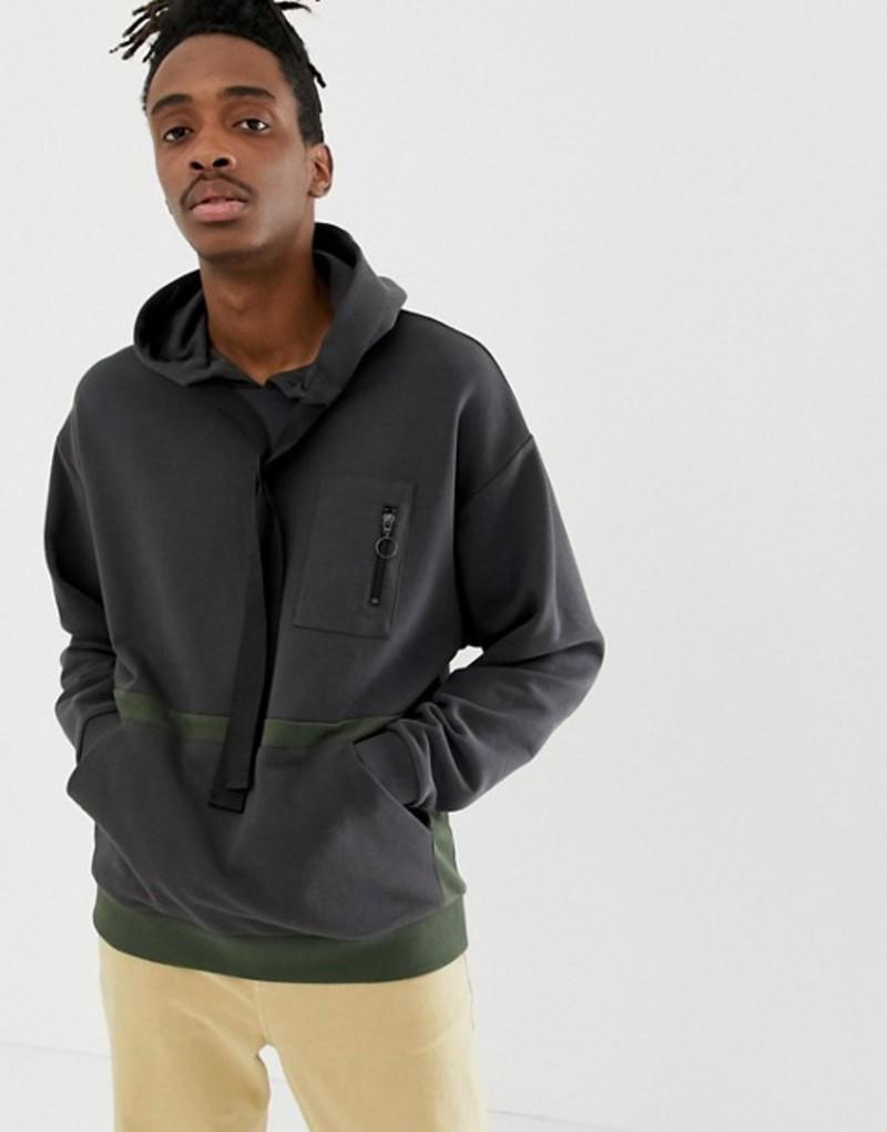 エイソス メンズ パーカー・スウェット アウター ASOS DESIGN oversized hoodie with utility details Bal