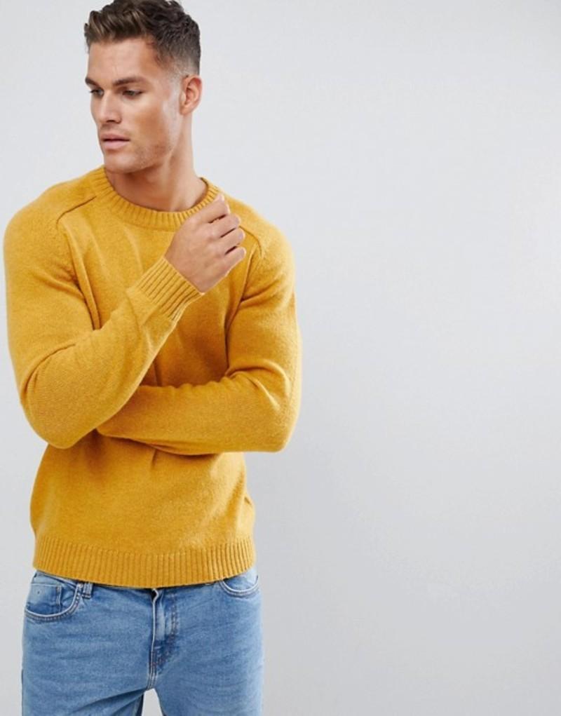 セレクテッドオム メンズ ニット・セーター アウター Selected Homme knitted sweater in 100% lambswool Curry