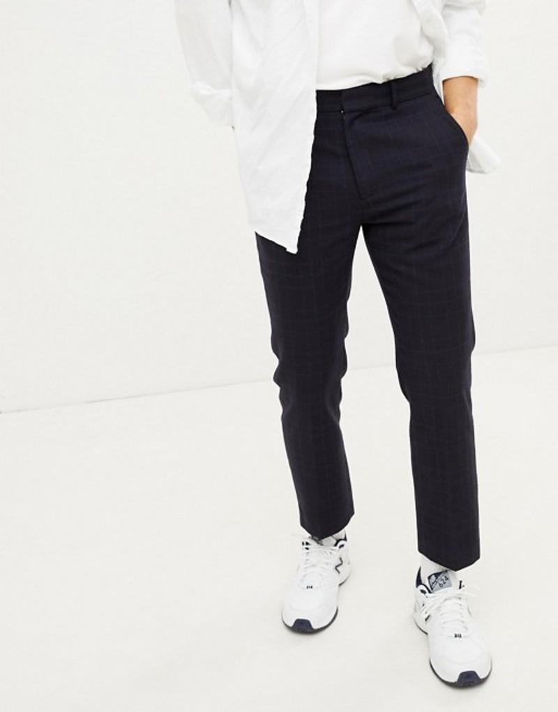 ウィークデイ メンズ カジュアルパンツ ボトムス Weekday checked suit PANTS Navy
