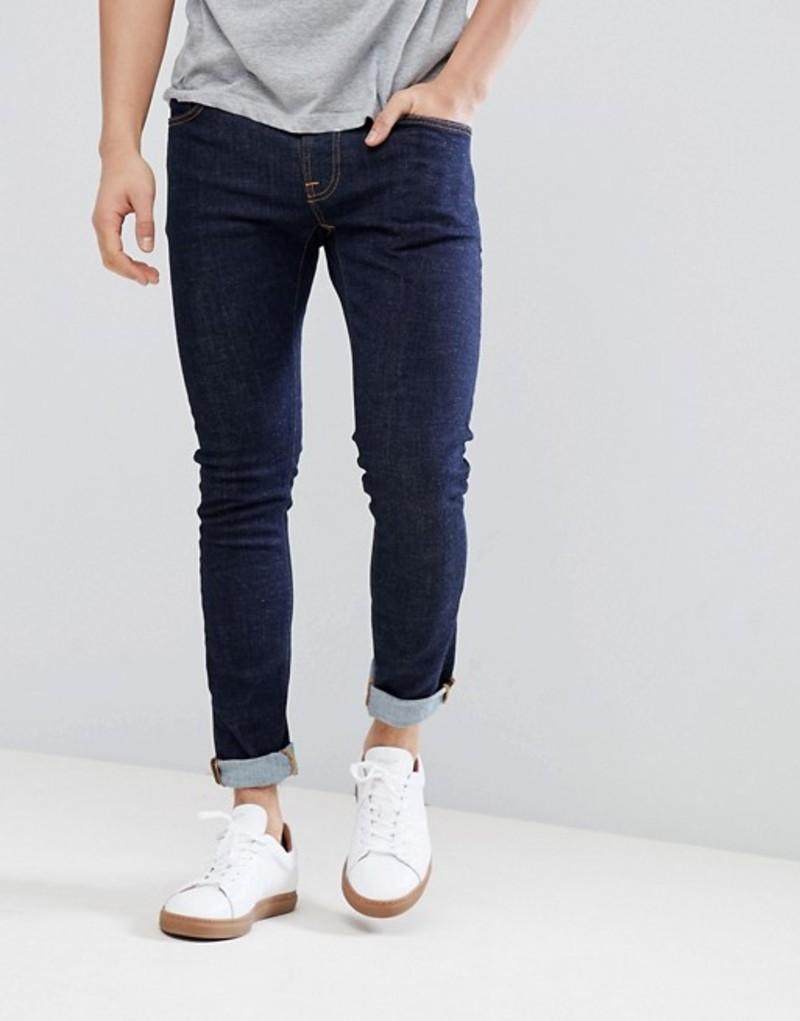 ヌーディージーンズ メンズ デニムパンツ ボトムス Nudie Jeans Co Tight Terry twill jeans in rinse blue Navy
