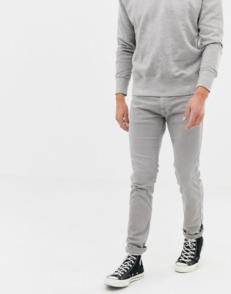 リプレイ メンズ デニムパンツ ボトムス Replay washed gray slim jeans Grey