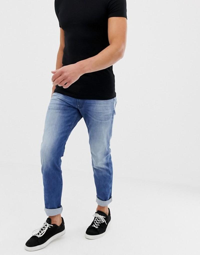 リプレイ メンズ デニムパンツ ボトムス Replay slim light wash jeans Blue
