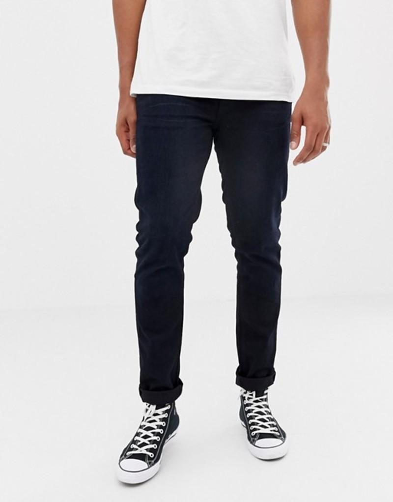 ヌーディージーンズ メンズ デニムパンツ ボトムス Nudie Jeans Co Lean Dean tapered jeans black n blue Black n blue