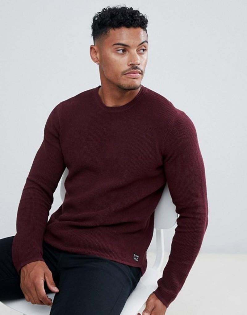 ブレンド メンズ ニット・セーター アウター Blend crew neck sweater 73812 wine red