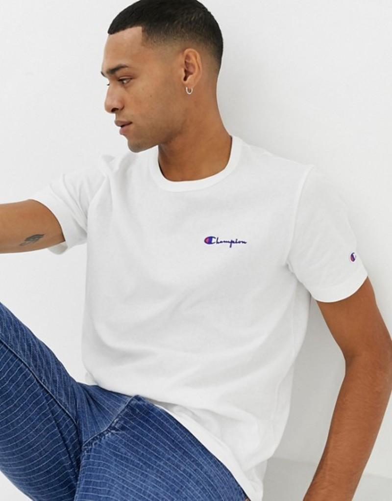 チャンピオン メンズ Tシャツ トップス Champion t-shirt with small script logo in white White