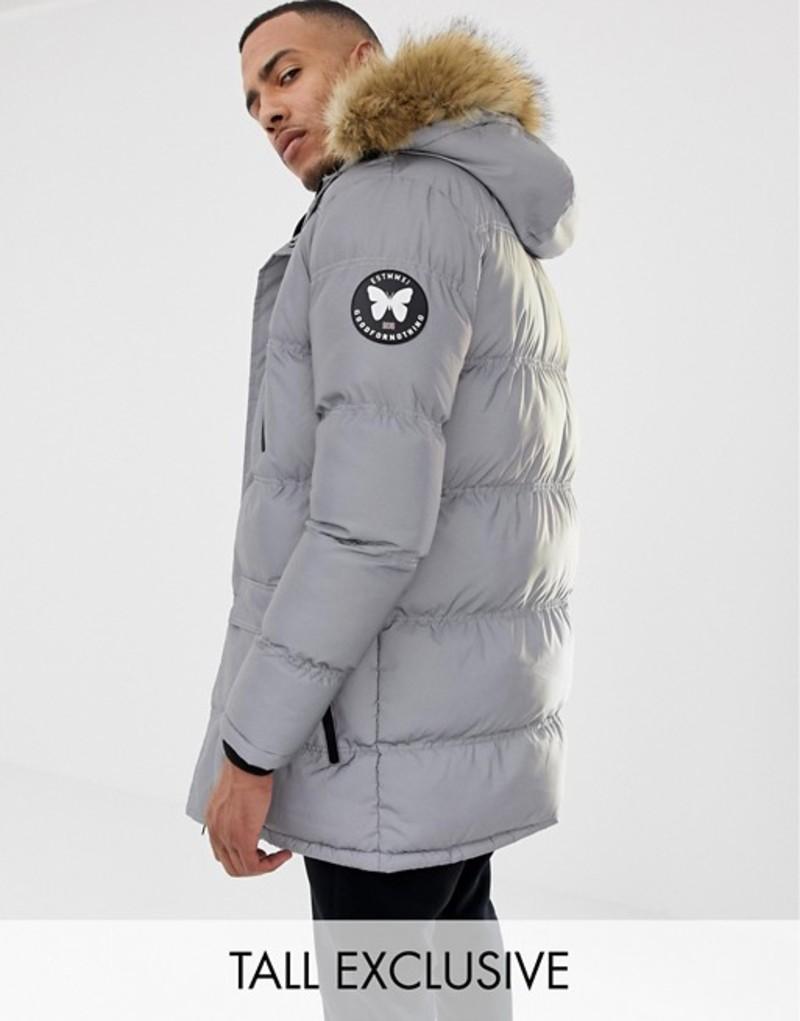 グッドフォーナッシング メンズ パーカー・スウェット アウター Good For Nothing parka coat in reflective exclusive to ASOS Silver