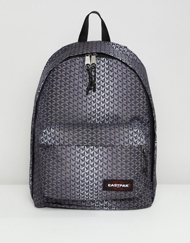 イーストパック メンズ バックパック・リュックサック バッグ Eastpak Out Of Office geo print backpack 27L Black mono