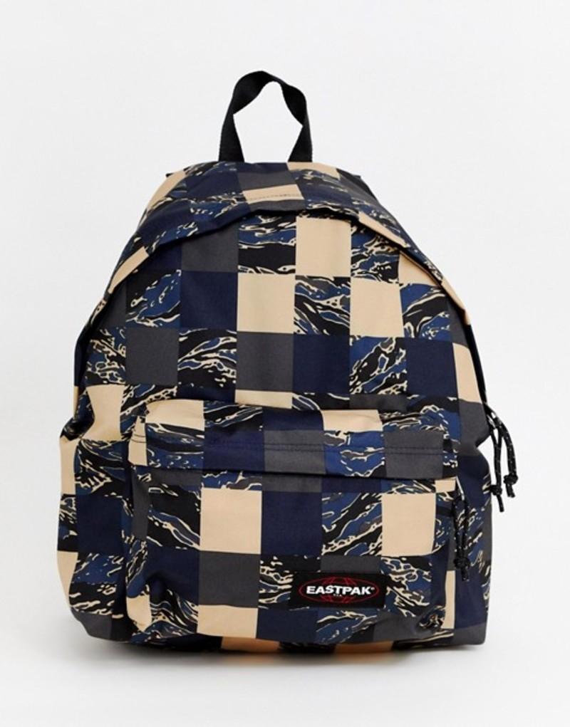 イーストパック メンズ バックパック・リュックサック バッグ Eastpak Padded Pak'R Camopatch backpack 24L Navy