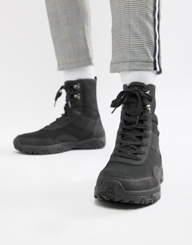 エイソス メンズ スニーカー シューズ ASOS DESIGN high top sneakers in black Black