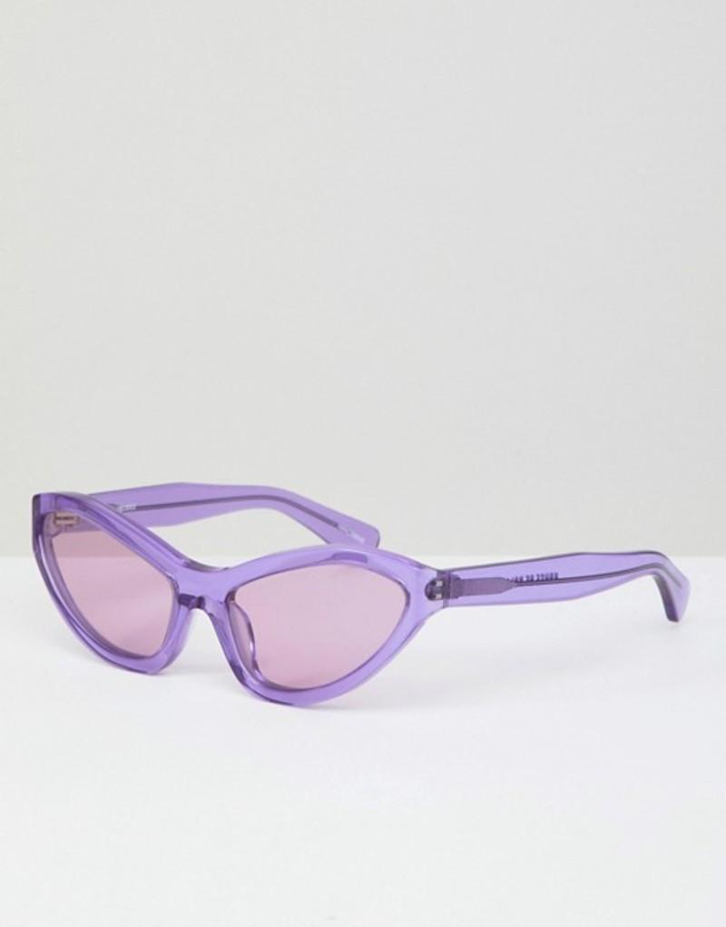 ハウスオブホーランド レディース サングラス・アイウェア アクセサリー House of Holland lilac extreme cat eye sunglasses Lilac