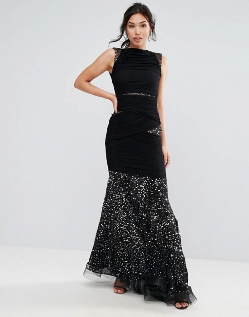 フォーエバーユニーク レディース ワンピース トップス Forever Unique Fishtail Maxi Dress Black