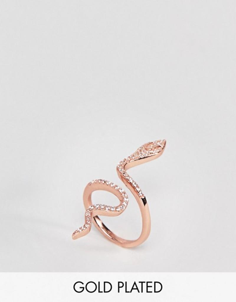 シャシ レディース 指輪 アクセサリー Shashi Sterling Silver 18K Rose Gold Plated Large Snake Pave Ring Rose gold