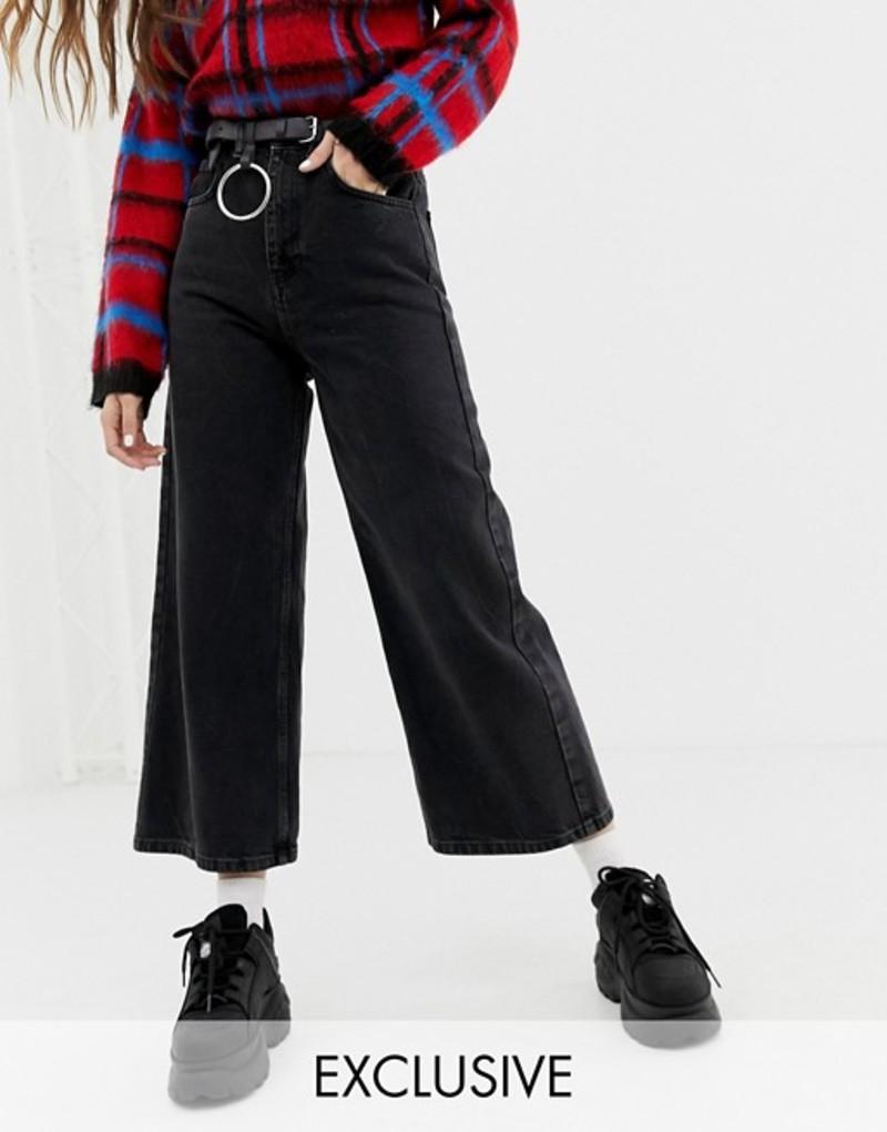 リクレイム ヴィンテージ レディース デニムパンツ ボトムス Reclaimed Vintage The '93 wide leg jeans in washed black Washed black