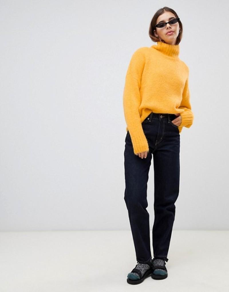 ウィークデイ レディース デニムパンツ ボトムス Weekday li oversized mom slim fit jeans Rinse/soaked