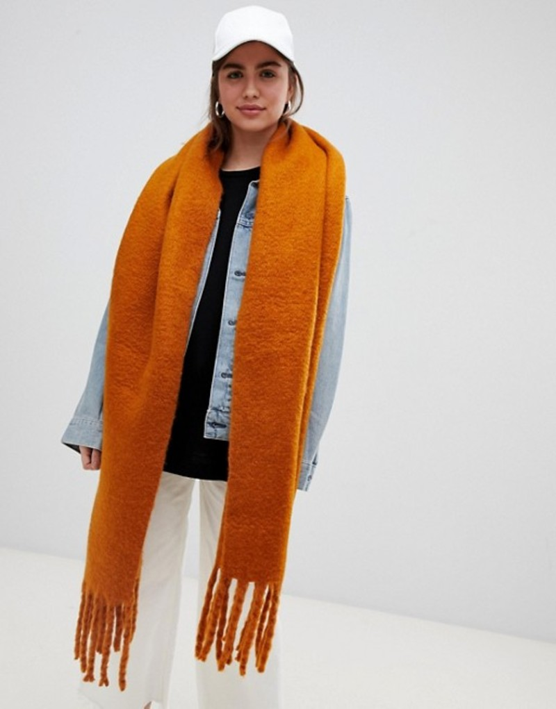 ウィークデイ レディース マフラー・ストール・スカーフ アクセサリー Weekday oversized scarf in Rust Curry