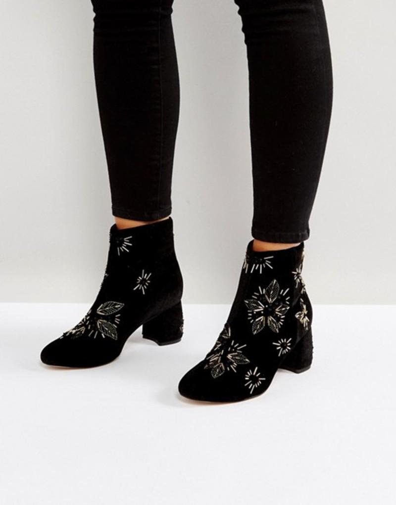 オフィス レディース ブーツ・レインブーツ シューズ Office Arch Enemy Embellished Boots Black