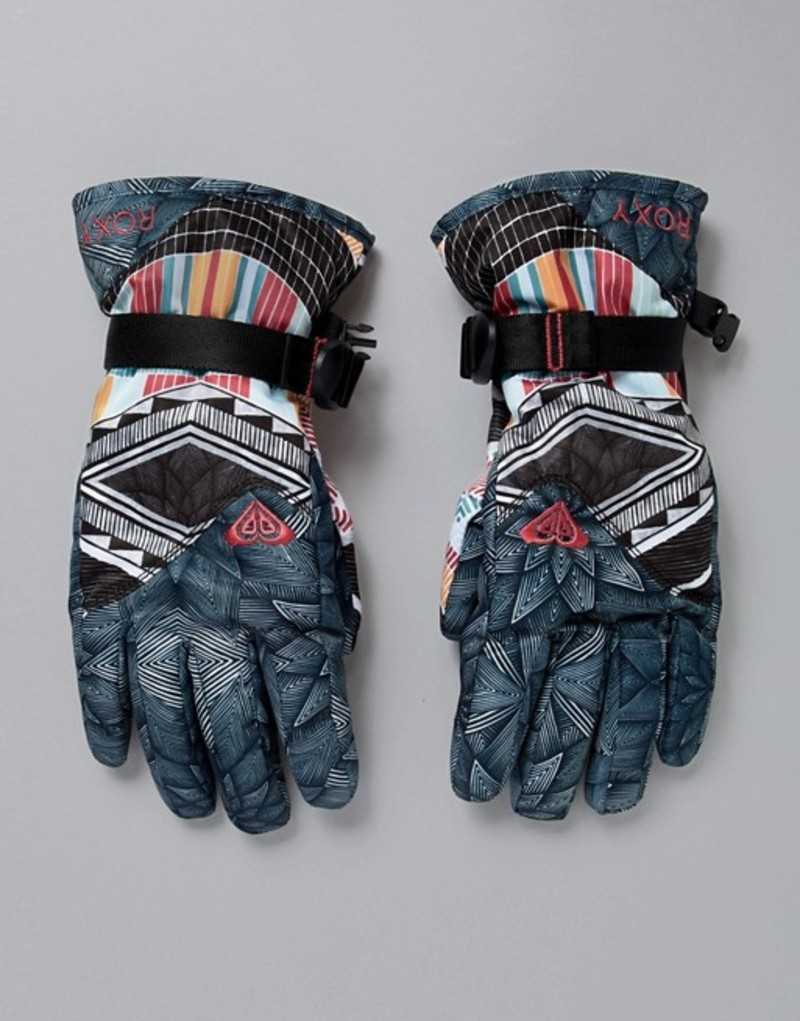 ロキシー レディース 手袋 アクセサリー Roxy Jetty SE Gloves in Black/Multi Print Multi