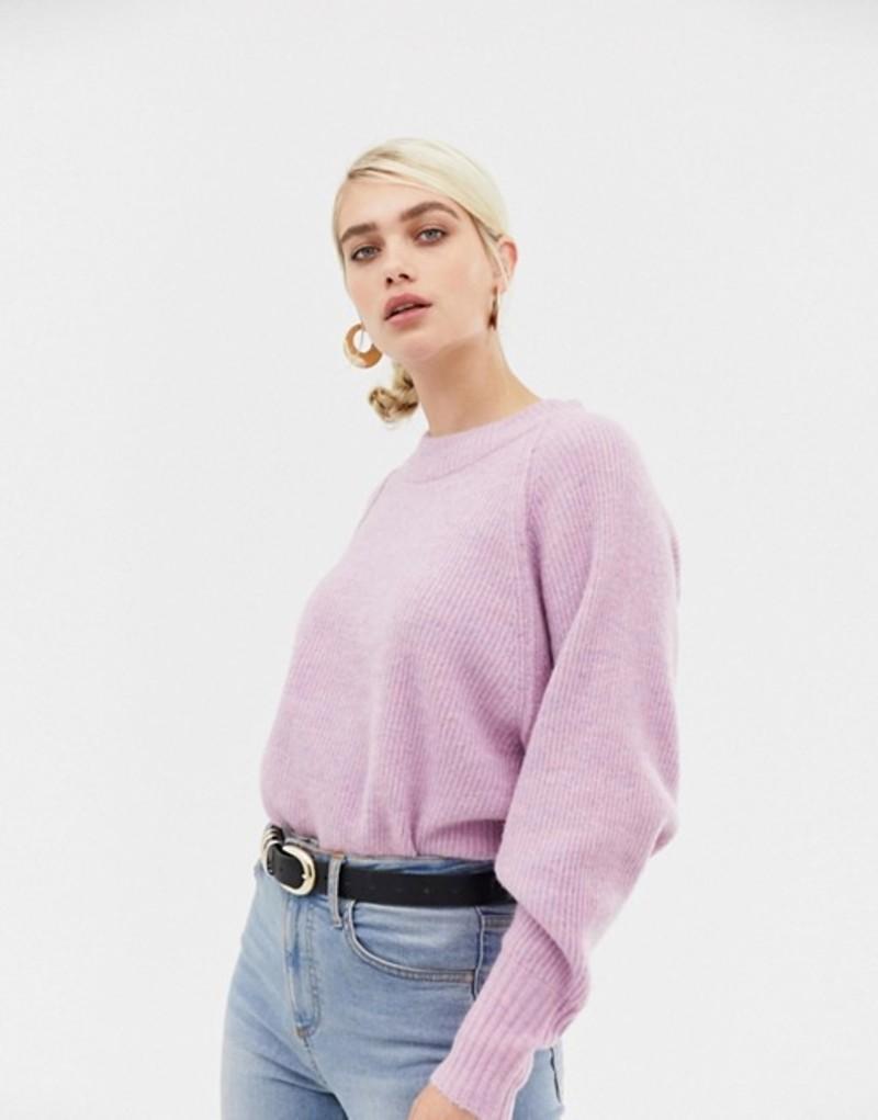 セレクティッド レディース ニット・セーター アウター Selected femme deep cuff knitted sweater Orchid melange