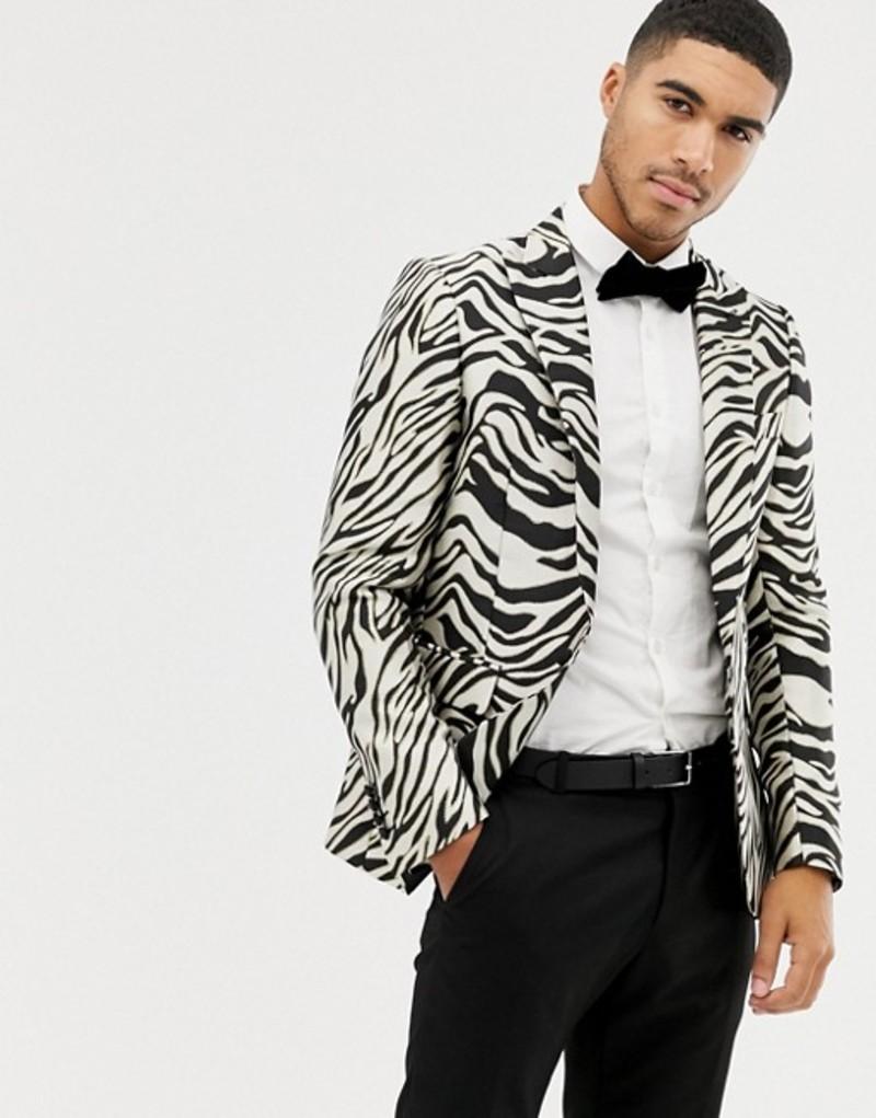 デビルズ アドボケート メンズ ジャケット・ブルゾン アウター Devils Advocate zebra blazer Black