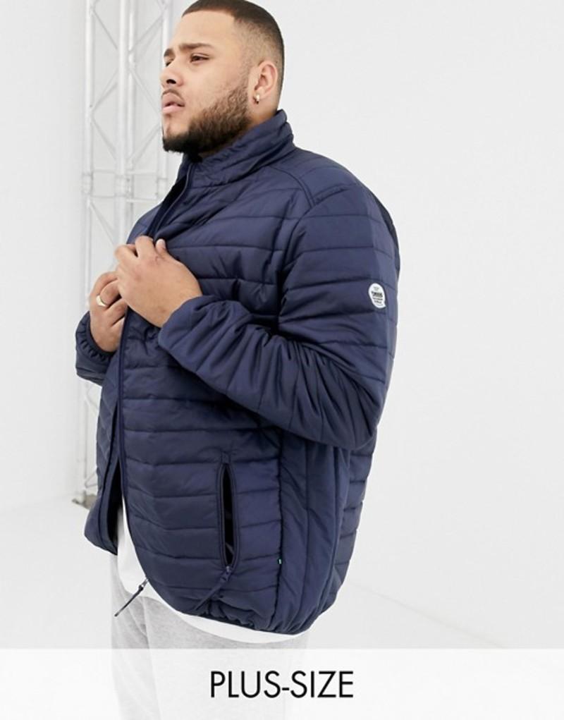 デューク メンズ ジャケット・ブルゾン アウター Duke King Size quilted jacket in navy Navy