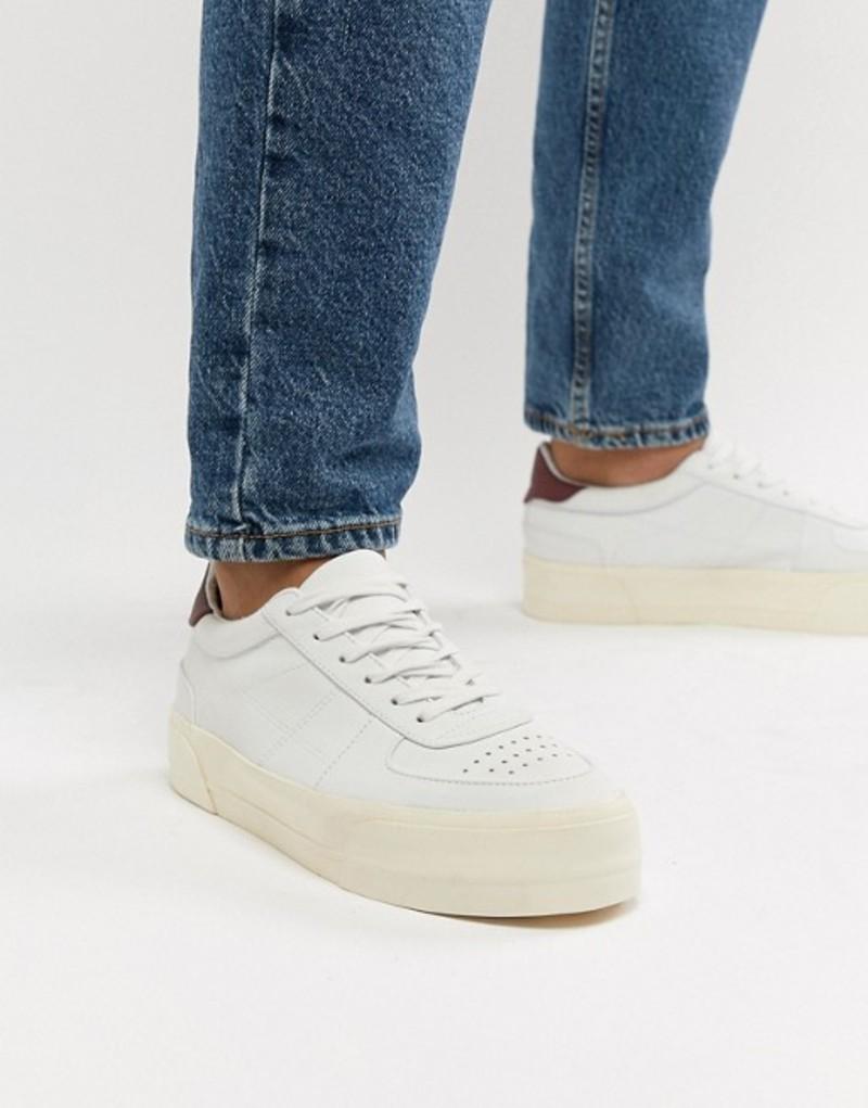 エイソス メンズ スニーカー シューズ ASOS DESIGN sneakers in off white with chunky sole Off white