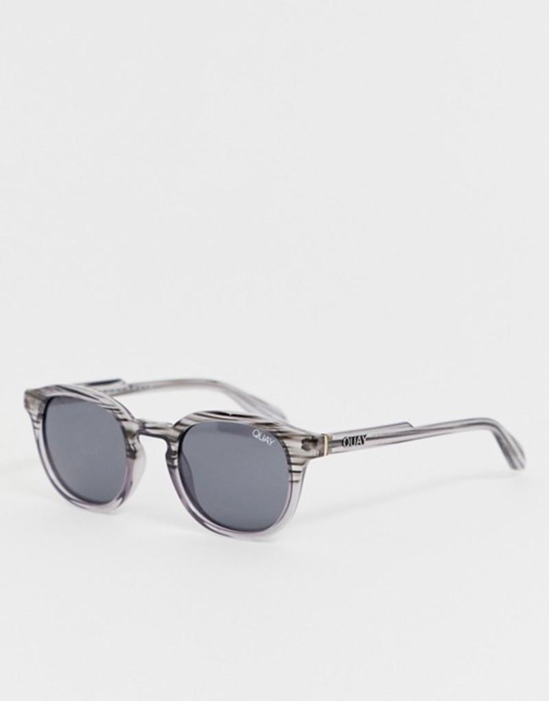 クアイオーストラリア メンズ サングラス・アイウェア アクセサリー Quay Australia Walk On square sunglasses in gray Grey