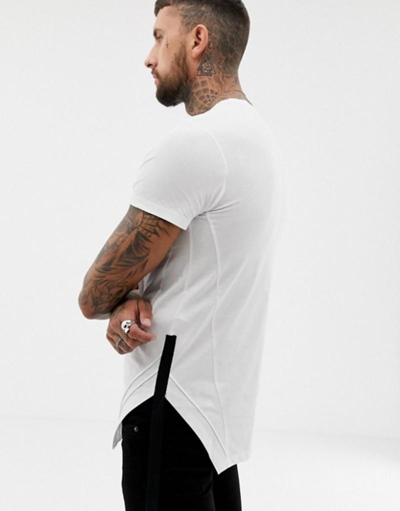 レリジョン メンズ Tシャツ トップス Religion muscle fit t-shirt with taped hem White