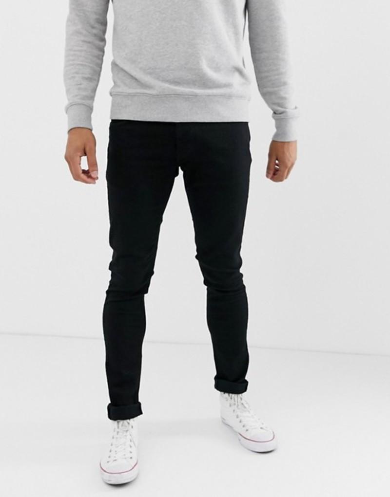 ヌーディージーンズ メンズ デニムパンツ ボトムス Nudie Jeans Co Tight Terry jeans ever black wash Black