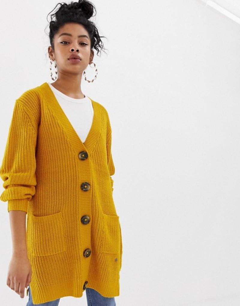 ブレンドシー レディース カーディガン アウター Blend She Felise button down cardigan Yellow mustard